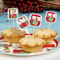 Festive Fun Mince Pie/Cake Picks (20)